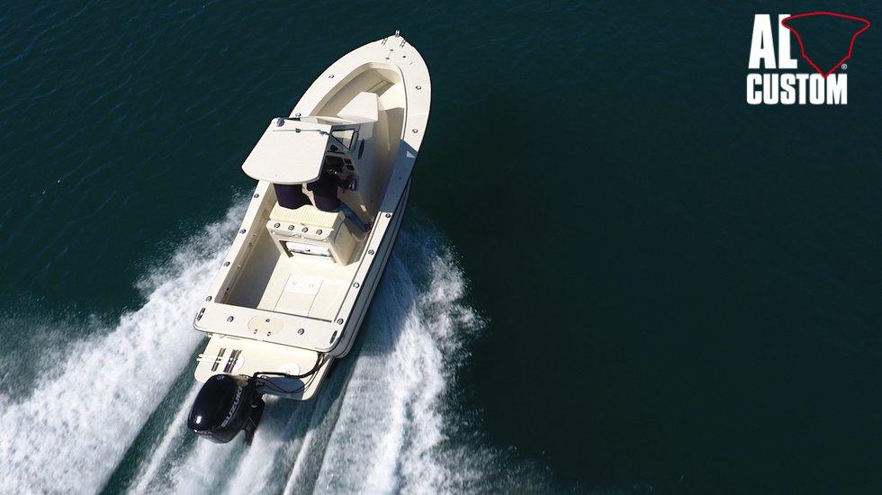 Fisherman ALCUSTOM AL23 e fuoribordo Suzuki DF200AP, elettronica Humminbird