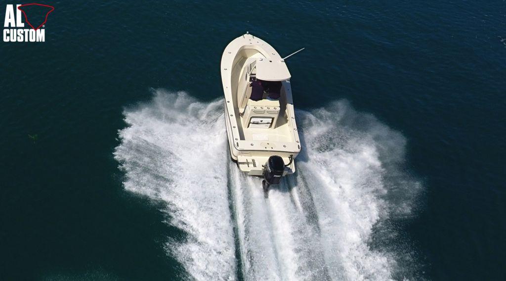 Fishing boat ALCUSTOM AL23 e fuoribordo Suzuki DF200AP, elettronica Humminbird