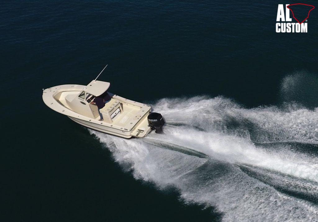 Fishing boat ALCUSTOM AL23, motore fuoribordo Suzuki DF200AP, elettronica Humminbird. Barca in carbonio.
