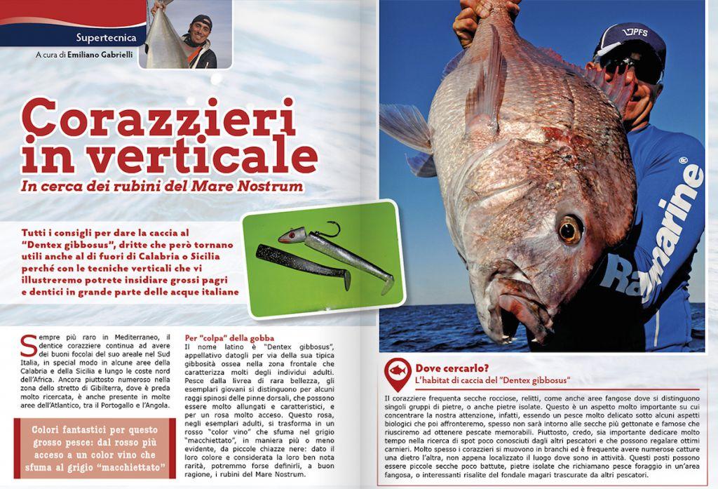 pesca in verticale ai dentici corazzieri: inchiku e vertical jigging