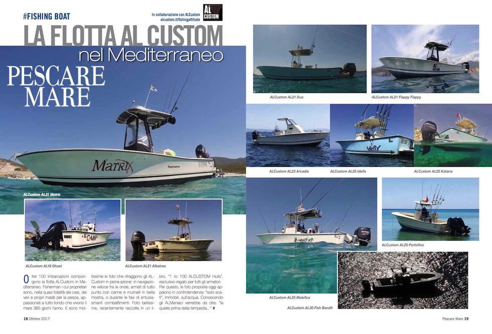 ALCUSTOM boats: la flotta ALCUSTOM in Mediterraneo. Fisherman ad alta tecnologia.