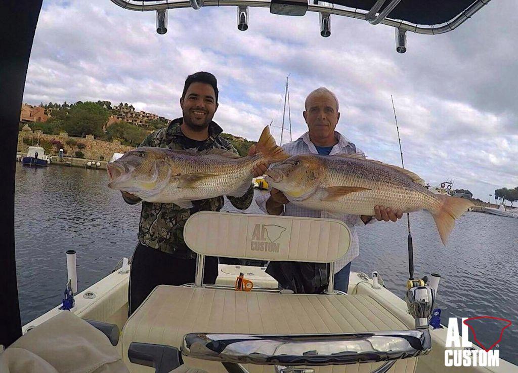 """ALCUSTOM AL21 """"Duo"""": traina col vivo ai dentici. Pesca a traina, Sardegna nord-orientale"""