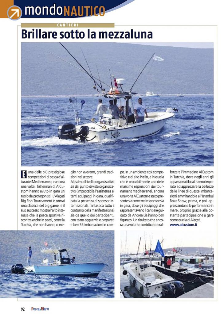 Turchia, Big Fish Tournament di Alaçati: equipaggi ALCUSTOM in gara.